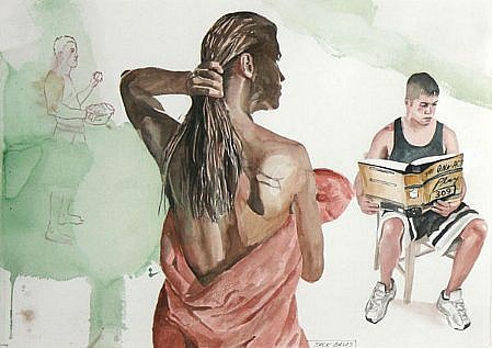 JACK BALAS, THE ONE-ACT PLAY watercolor
