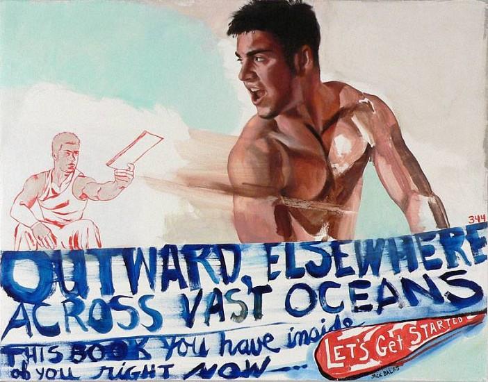 JACK BALAS, OUTWARD ELSEWHERE oil on canvas