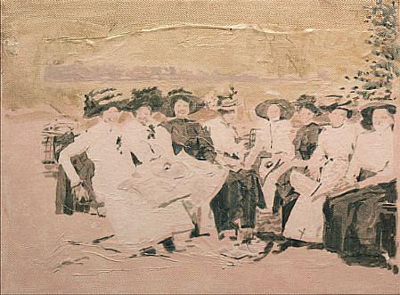 STEPHEN BATURA, park acrylic on canvas