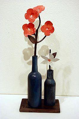 DAVID KIMBALL ANDERSON, WINTER BOUQUET(VARIATION) bronze, steel, paint