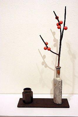 DAVID KIMBALL ANDERSON, WINTER STILL LIFE bronze, steel, paint