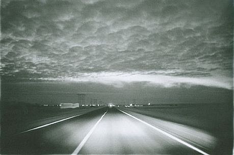 CHUCK FORSMAN, Prairie night, near Wolf Point, eastern Montana black & white photograph