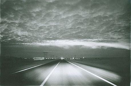 CHUCK FORSMAN, Prairie night, near Wolf Point, eastern Montana black & white photograph