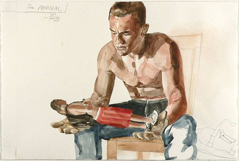 JACK BALAS, THE PRODIGAL watercolor