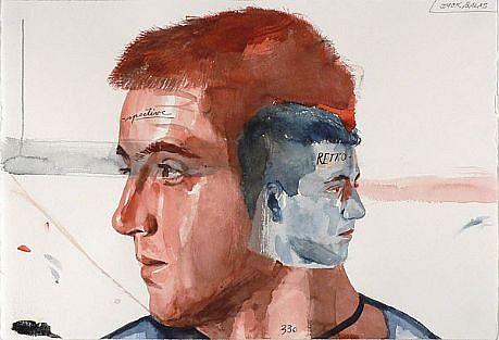 JACK BALAS, RETROSPECTIVE 2 watercolor
