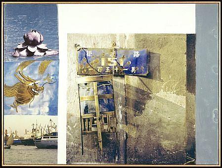 ROBERT RAUSCHENBERG, LOTUS IV (THE LOTUS SERIES) Ed. 50 pigmented ink-jet print  on Somerset velvet