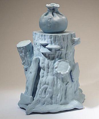 JEFF STARR, RUSTIC TABLEAU acrylic on  ceramic