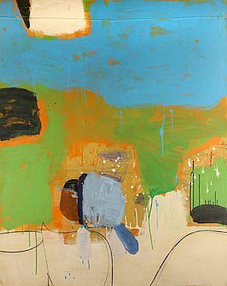 GARY KOMARIN, SALINA oil and mixed media on canvas