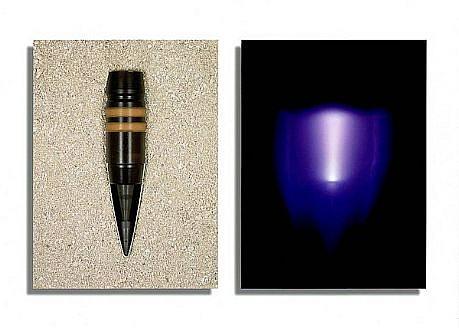 "JIM SANBORN, CONE ""PENETRATING RADIATION"" Ed.10 pigment print, face-mounted to Plexi"