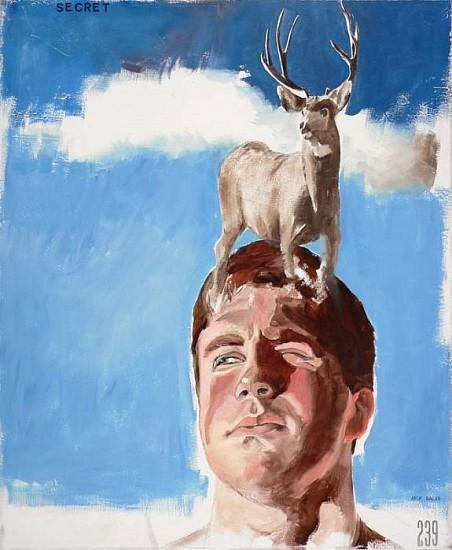 JACK BALAS, THE SECRET oil on canvas