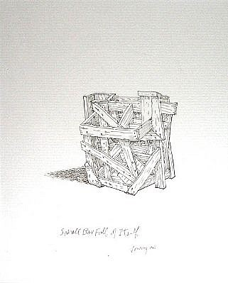 BRUCE LOWNEY, SMALL BOX FULL OF ITSELF pen and ink