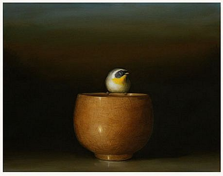 DAVID KROLL, TEA BOWL oil on panel