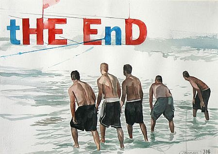 JACK BALAS, THE END watercolor