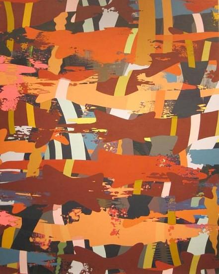 WENDI HARFORD, MASS TRANSIT latex acrylic on canvas