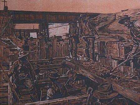 STEPHEN BATURA, undermine casein, acrylic, graphite on panel