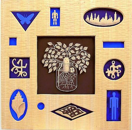 JOHN BUCK, UTOPIAN PARKWAY jelutong wood w/ acrylic