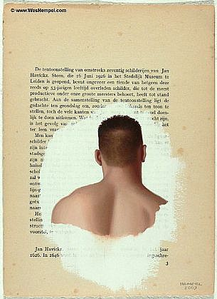 WES HEMPEL, LEIDEN SERIES, PAGE 3 oil on paper