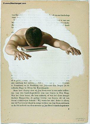 WES HEMPEL, LEIDEN SERIES, PAGE 5 oil on paper