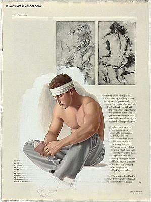 WES HEMPEL, VAN DYCK SERIES, PAGE 29 oil on paper