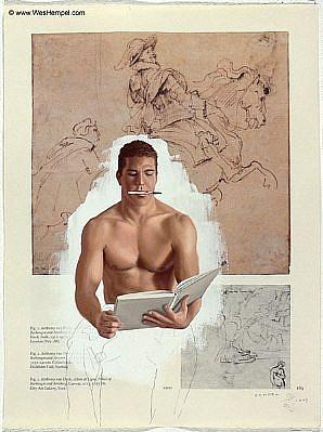 WES HEMPEL, VAN DYCK SERIES, PAGE 189 oil on paper