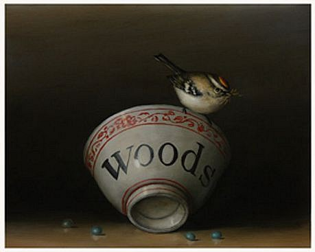 DAVID KROLL, WOODS BOWL oil on panel