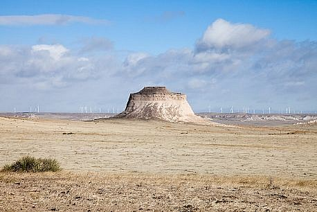 KEVIN O'CONNELL, (EI-5352) WEST PAWNEE BUTTE (with wind machines) Ed.5 pigment print on Kozo paper