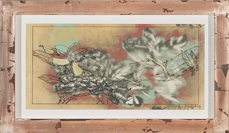 JUDY PFAFF, WHITE LIGHT  2/30 lithography, letterpress, acrylic and encaustic