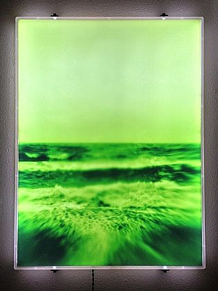 "DAVID ZIMMER, UNTITLED 2 (""VAPOR"") photographic light panel"