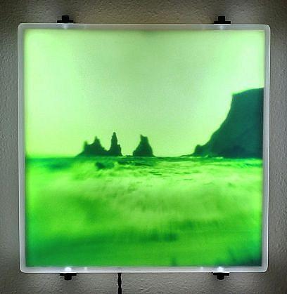 "DAVID ZIMMER, UNTITLED 3 (""VAPOR"") photographic light panel"