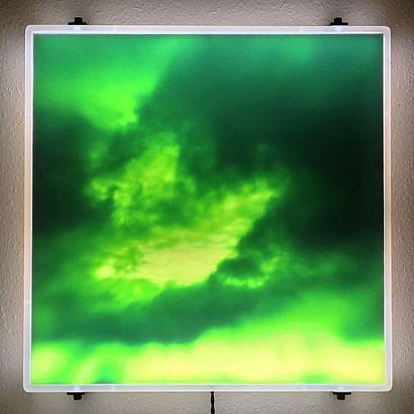 "DAVID ZIMMER, UNTITLED 1 (""VAPOR"") photographic light panel"