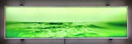 "DAVID ZIMMER, UNTITLED 4 (""VAPOR"") photographic light panel"