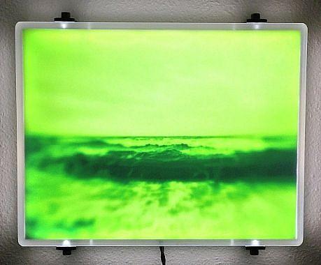 "DAVID ZIMMER, UNTITLED 5 (""VAPOR"") photographic light panel"
