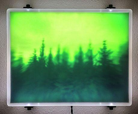 "DAVID ZIMMER, UNTITLED 6 (""VAPOR"") photographic light panel"