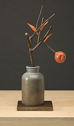 DAVID KIMBALL ANDERSON, APPLE painted steel and bronze