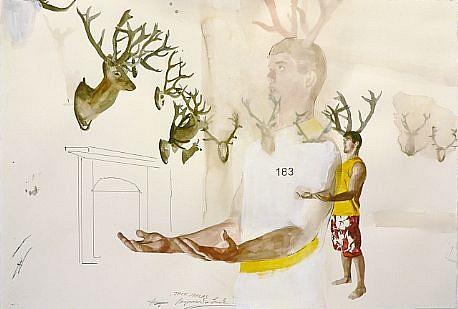 JACK BALAS, BEGINNER'S LUCK #183 watercolor