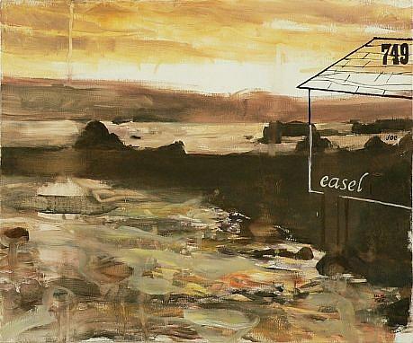 JACK BALAS, EASEL (JOE) oil on canvas over panel