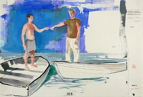 JACK BALAS, MARINE LIFE watercolor