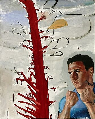 JACK BALAS, OWN #487 oil and enamel on canvas over panel