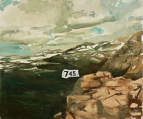 JACK BALAS, UNTITLED (LANDSCAPE #745) oil on canvas over panel