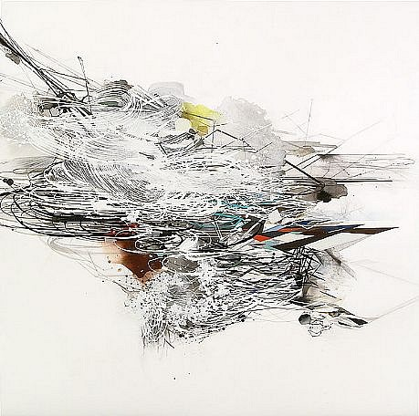 REED DANZIGER, A SINGLE COLLAPSE watercolor, gouache, ink and graphite on paper