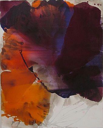 DIRK DE BRUYCKER, UNTITLED I asphalt, cobalt drier, gesso and oil on canvas