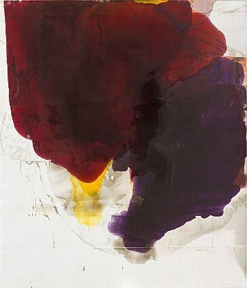 DIRK DE BRUYCKER, MERGER II asphalt, cobalt drier, gesso and oil on canvas