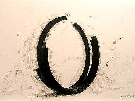 BERNAR VENET, VARIATIONS ON THE ARC X/X by Art of This Century lithograph, framed