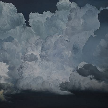 IAN FISHER, ATMOSPHERE NO. 47 (THE FOUR HORSEMEN) oil on canvas