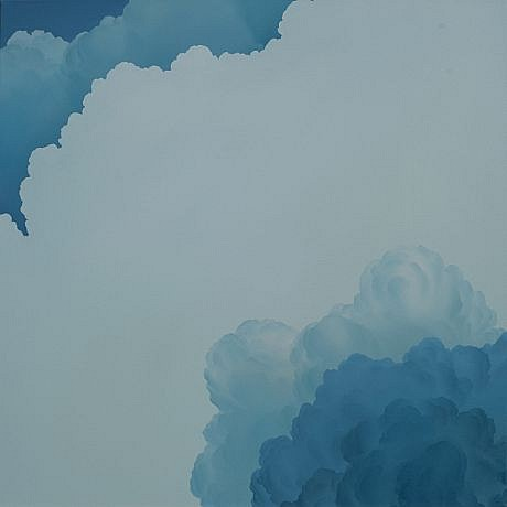 IAN FISHER, ATMOSPHERE NO. 48 (A CLOUD LOOKS AT ITSELF) oil on canvas