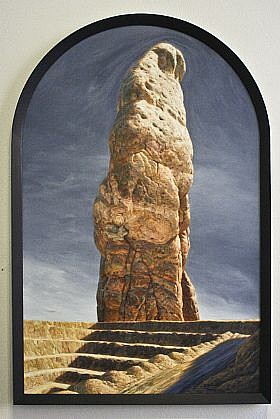 CHUCK FORSMAN, HEAD STONE oil on panel