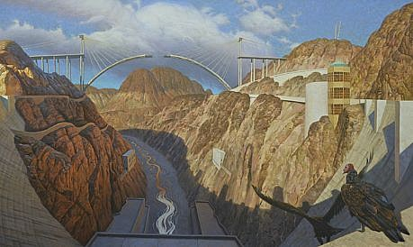 CHUCK FORSMAN, BIG DROP: NOTES FROM THE RIVER'S JOURNAL oil on panel