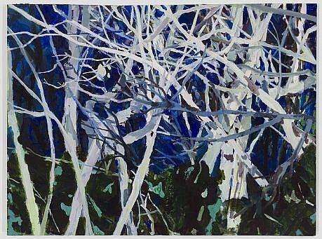 ALLISON GILDERSLEEVE, NIGHT WATCHMEN oil on canvas