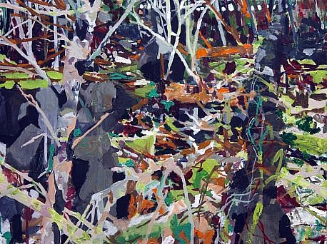 ALLISON GILDERSLEEVE, WITHIN EARSHOT oil on canvas