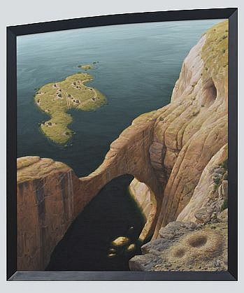 CHUCK FORSMAN, NOAH'S ARCH oil on panel